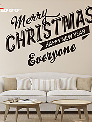 New Pattern  Merry Christmas  Removable Showcase Waterproof Wall Sticker Home Decor Vinyl Wall Decal