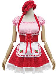 poliéster traje rojo de dama type4