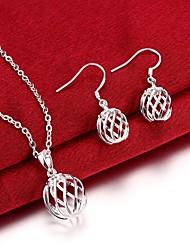Schmuckset Modisch versilbert Kreuzform Silber Für Party Besondere Anlässe Geburtstag Hochzeitsgeschenke