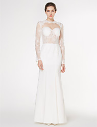 Lanting Bride Trumpet/Mermaid Wedding Dress-Floor-length Jewel Lace / Charmeuse