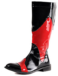 Men's Shoes Wedding / Office & Career / Party & Evening / Casual Patent Leather / Glitter Boots Black / Red