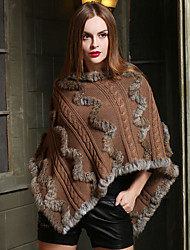 Wedding Faux Fur / Sweater Ponchos Sleeveless Wedding  Wraps / Fur Coats / Hoods & Ponchos