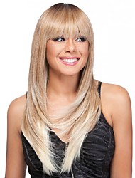 Layered Long Straight Human Virgin Remy Hand Tied-Top Capless Hair Wigs for Woman