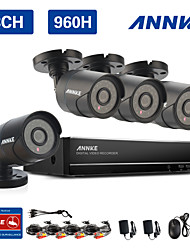 ANNKE 8CH 960H CCTV System Waterproof Video Recorder 900TVL Home Security Camera Surveillance Kits