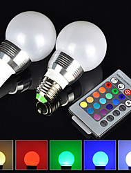 180° 16 Color E27 GU10 3W RGB LED Light Bulb Change Lamp + 24 Key Remote Control