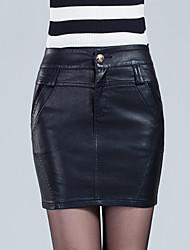 Women PU Skirt , Lined
