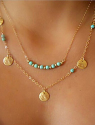 Multi disc Turquoise Necklace