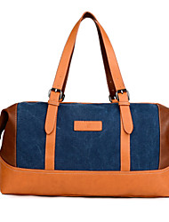 Women Canvas Duffel Shoulder Bag / Tote / Storage Bag / Travel Bag / Carry-on Bag - Blue / Black / Khaki