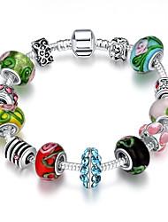 Bracelet Charm BraceletRhinestone Bead Silver Plated Strand Bracelet Chrismas Gift Friendship Bracelet Jewelry Gift Bracelet Charm Brace