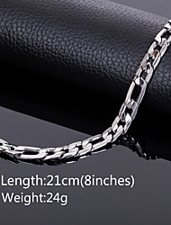 Chaînes & Bracelets ( Acier au titane ) Mariage / Soirée / Quotidien / Casual / Sports
