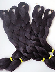 "24""100g Kanekalon Jumbo Braiding Hair Synthetic Crochet Braid Hair Extensions 1Piece/lot"
