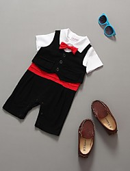 Black Cotton Ring Bearer Suit - 2 Pieces