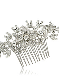 Bridal Hairpins Rhinestone Flower Hair Combs Wedding Hair Jewelry Accessories Pageant Headpiece
