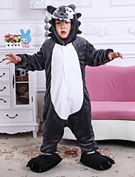 flanelle animal cartoon loup mignon pyjama siamois