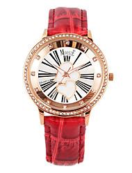 MOOSIE Hearttex luxury red band quartz watch 2044L8SS11