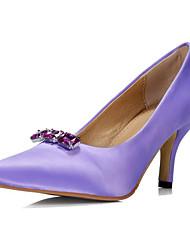 Women's / Girl's Wedding Shoes Heels Heels Wedding / Office & Career / Party & Evening / Dress Black / Purple / Red
