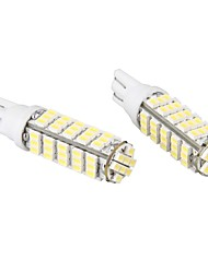 2 * T10 W5W 168 Auto der hohen Leistung weiße 68 SMD LED Keil-Glühlampe-Lampe 12V
