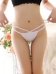Femme Couleur Pleine C-stringsCoton / Nylon / Spandex