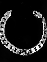 Fashion Big Exaggeration 925 Silver Plated Chain & Link Bracelets For Man Christmas Gifts