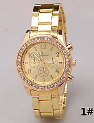 Geneva Geneva Three Diamond Stainless Steel Alloy Strip Steel Quartz Watch Cool Watches Unique Watches Fashion Watch