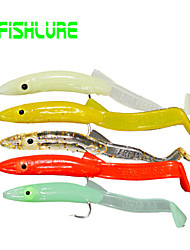 """16pcs/lot pcs Leurre souple / Kits de leurre Vert / Blanc / Jaune / Vert clair / Rouge 1.3 g/1/18 / 1/10 Once,65 mm/2-5/8"""" pouce,"""