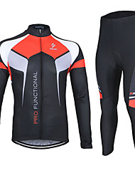 Bike/Cycling Jersey + Pants/Jersey+Tights / Arm Warmers / Jersey / Clothing Sets/Suits Unisex Long SleeveBreathable / 3D Pad / Reflective