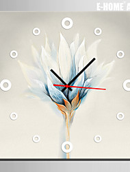 E-HOME® A Flower Clock in Canvas 1pcs