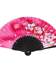 Silk Fans and parasols - 1 Piece/Set Hand Fans Garden Theme / Asian Theme / Floral Theme / Butterfly Theme Pink