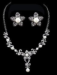 Conjunto de jóias Mulheres Aniversário / Casamento / Noivado / Presente / Diário / Ocasião Especial Conjuntos de JoalhariaImitação de