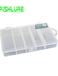 Afishlure Hard Plastic Transparent 5 Grids Case Fishing Tackle Boxes Lure Box Waterproof 1 Tray 18cm* 10.5cm*3cm