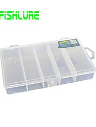Afishlure Caixas de Pesca Caixa de Isco Impermeável 1 Bandeja 18*10.5*3 Plástico Duro