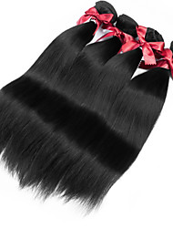 Brazilian Virgin Hair Silky Straight Weaving Extensions 1B Brazilian Remy Human Hair Weaving 4 Bundles