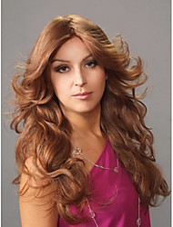 lady Long Curly Wigs Brown Color Synthetic Hair Wigs