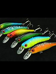 """6 pcs Harte Fischköder / kleiner Fisch Verschiedene Farben 85 g/5/16 Unze,85 mm/3-5/16"""" Zoll,Fester KunststoffSeefischerei / Angeln"""