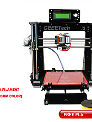 Geeetech 8mm Acrylic RepRap Prusa Mendel I3 3D Printer DIY Kit Free PLA 1.75mm Filament / 0.3mm Nozzle