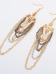 European And American Trends Cross Tassel Earrings