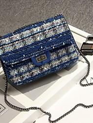 Women Polyester Sling Bag Shoulder Bag - Blue / Gold / Black