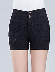 Pantalon Aux femmes Shorts Décontracté / Grandes Tailles Polyester Non Elastique