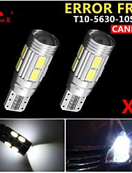 2x canbus coin t10 blanc 192 168 194 W5W 10 5630 LED SMD erreur ampoule lumière 12v gratuitement