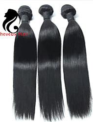 3Bundles cabelo humano cabelo reto 8-26inch cabelo indiano virgem tece cor natural