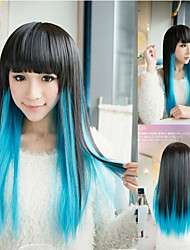 European and American Fashion Mixed Color Straight Wig