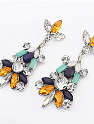 Bohemia Small Fresh Temperament Multicolored Gemstone Earrings Bridal Accessories