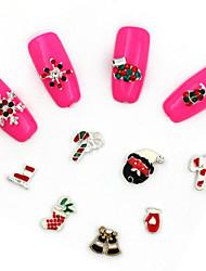 Милый - 3D наклейки на ногти / Стразы для ногтей - Пальцы рук - 4*4*0.5 - 10Pcs - Металл