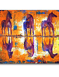 Animal Oil Painting Design IARTS Brand Good Quality Three Horse Oil Painting