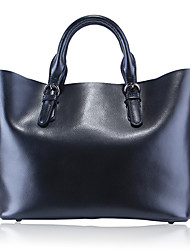Paste® Simple Design Real Leather Women Tote Bag