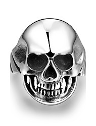 European Style Human Skeleton Stainless Steel Ring (Steel)(1Pc)