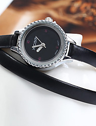 XICOO 489 Long Leather Band Women Diamond Quartz Watch Cool Watches Unique Watches