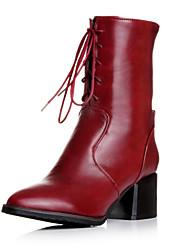Zapatos de mujer - Tacón Stiletto - Pump Básico / Botas a la Moda - Botas - Exterior / Oficina y Trabajo / Casual - Sintético -Negro /