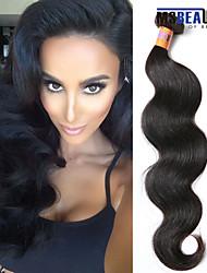 """1 pc / lot 12 """"-20"""" 8a brasilianische reine Haarkörperwellen-Menschenhaareinschlagfäden 100% unverarbeitetes brasilianisches remy Haar"""