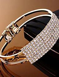 Damen Armbänder Breiter Armreif / Kette Golden / Silber / Alluminium Strass